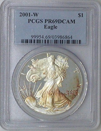 2001 W American Eagle $1 PR69 PCGS Silver Dollar Old US Coin 90% Silver