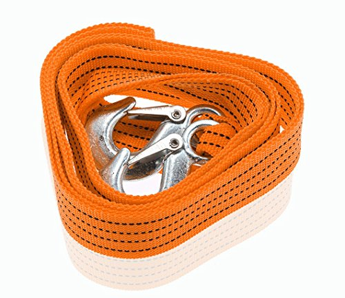 UPC 723508901579, 3 Tons Car Tow Cable Towing Strap Rope with Hooks Emergency Heavy Duty 6 Feet Long