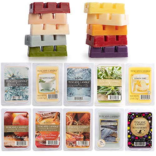 (Tuscany (10 Pack) Wax Melts: 60 Soy Candle Wax Cubes, Scented Wax Air Freshener for Wax Warmer, Candle Warmer)