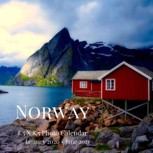 Norway 8.5 X 8.5 Photo Calendar January 2020 - June 2021: 18 Monthly Mini Picture Book| Cute 2020-2021 Year Blank At A Glance Monthly Colorful Desk ... (Awesome Country Photograph Desk Calendars)