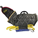 Dean & Tyler 4-Piece Professional Training Bundle Set for Dogs with 1 Intermediate Sleeve/1 Pocket Tug/1 Small Tug/1 Medium Tug