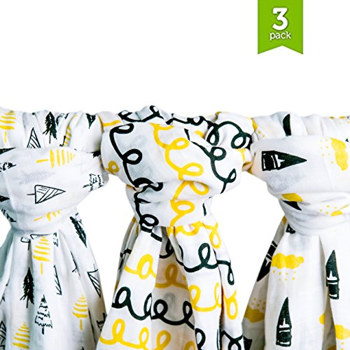 Muslin Baby Swaddle Blankets 48x48 product image