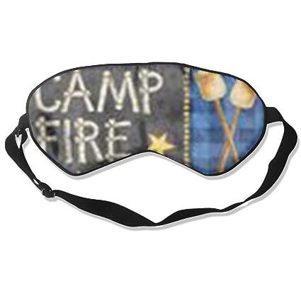 Silk Sleep Mask Soft Eye Mask Camp Fire Diy Blindfold Blocks