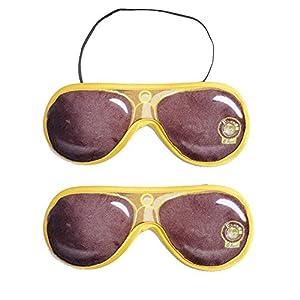 Fivebop Travel Sleeping Eye Mask, Light Blocking Night Sleep Mask, Adjustable Soft Sleeping Mask for Men, Women, Girls, Kids (Pack of 2)