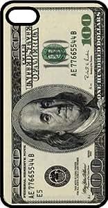 Hundred Dollar Bill Cash Money Ben Franklin Benjamins Black Plastic Case for Apple iPhone 6 Plus
