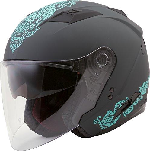 Teal Motorcycle Helmet - 1