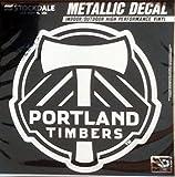 Portland Timbers 6'' Silver Metallic Mirrored Style Vinyl Auto Decal MLS Soccer Football Club