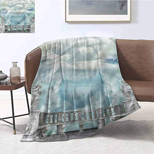 DILITECK Lightweight Blanket Mystic Greek Style Statues in Sky Cozy for Couch Sofa Bed Beach Travel W60 xL91 Traveling,Hiking,Camping,Full Queen,TV,Cabin -