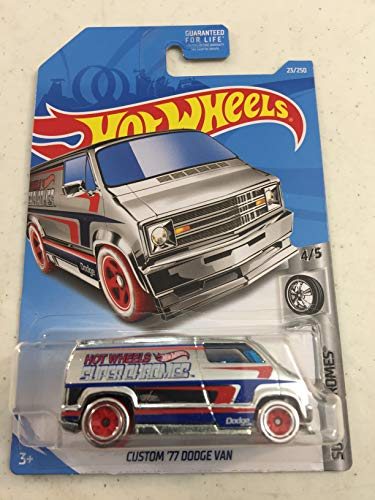 Hot Wheels 2019 Custom '77 Dodge Van Super Chromes 4/5