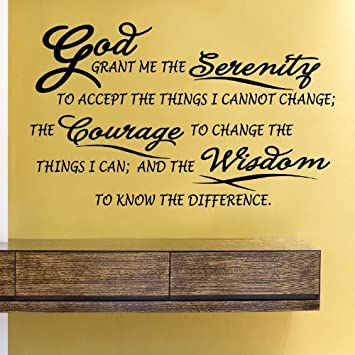serenity prayer god grant me the serenity to accept the things i cannot change the