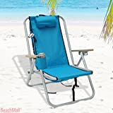 Deluxe WearEver Rio Aluminum Backpack Chair with Large Storage Pouch