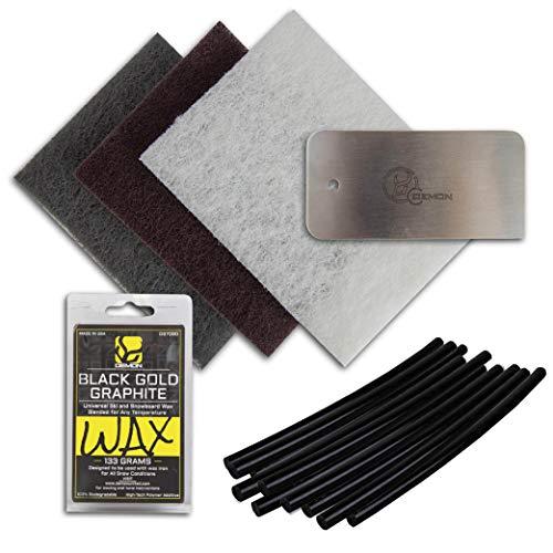 DEMON UNITED Basic Base Repair- Ski and Snowboard Base Repair Kit 10 pcs P-Tex (10 Pcs Black)