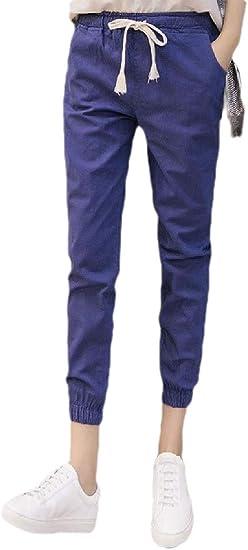 gawaga 女子ジムスウェットパンツルーズフィットランニングジョギングソフトドローストリングポケットズボン