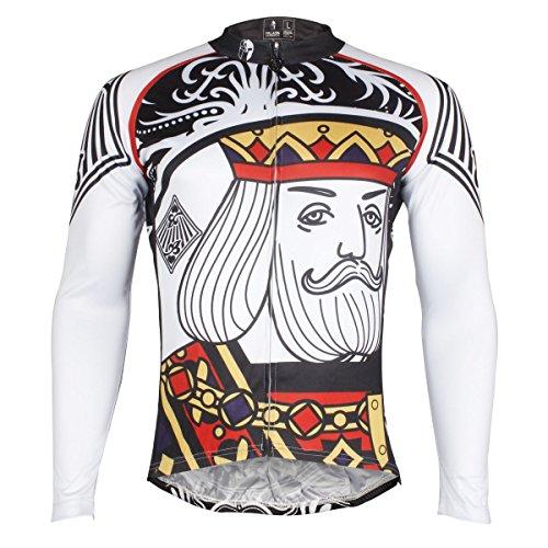 ILPALADINO Men's Cycling Jersey Race Long Sleeve Diamond Pattern Size L