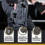 OneTigris Etui/Holster à Pistolet Molle Tactique Militaire avec Porte Chargeur pour 1911 45 92 96 Glock 9
