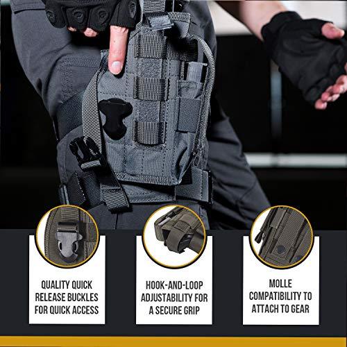 OneTigris Etui/Holster à Pistolet Molle Tactique Militaire avec Porte Chargeur pour 1911 45 92 96 Glock 4