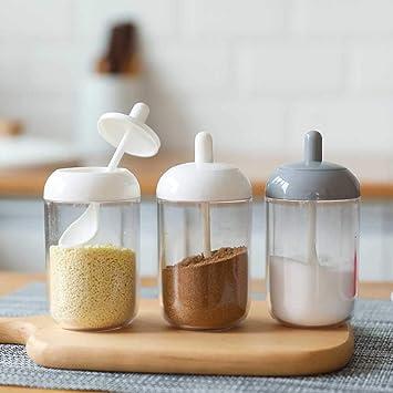 Seasoning Bottle Box Pot Condiment Storage Container Rack Herb Spice Jars