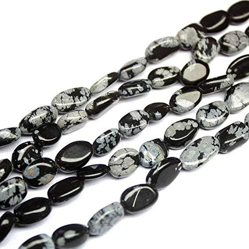 Obsidian Gemstone Briolette Black Faceted Cube Beads 6mm 19 inch 1 Strand Necklace Snowflake Obsidian Cubes by Gemswholesale