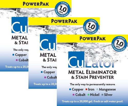 CuLator Metal Eliminator and Stain Preventer for Pools & Spas--3 Month Supply by Unknown