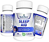 Nutrifect Nutrition Natural Sleep Aid Pills– Double Dose 400mg L-Theanine for Super Fast Night Time Muscle Recovery, Lets You Sleep ALL Night, 200mg Magnesium, 5-HTP, GABA, Melatonin, 60 Veggie Caps