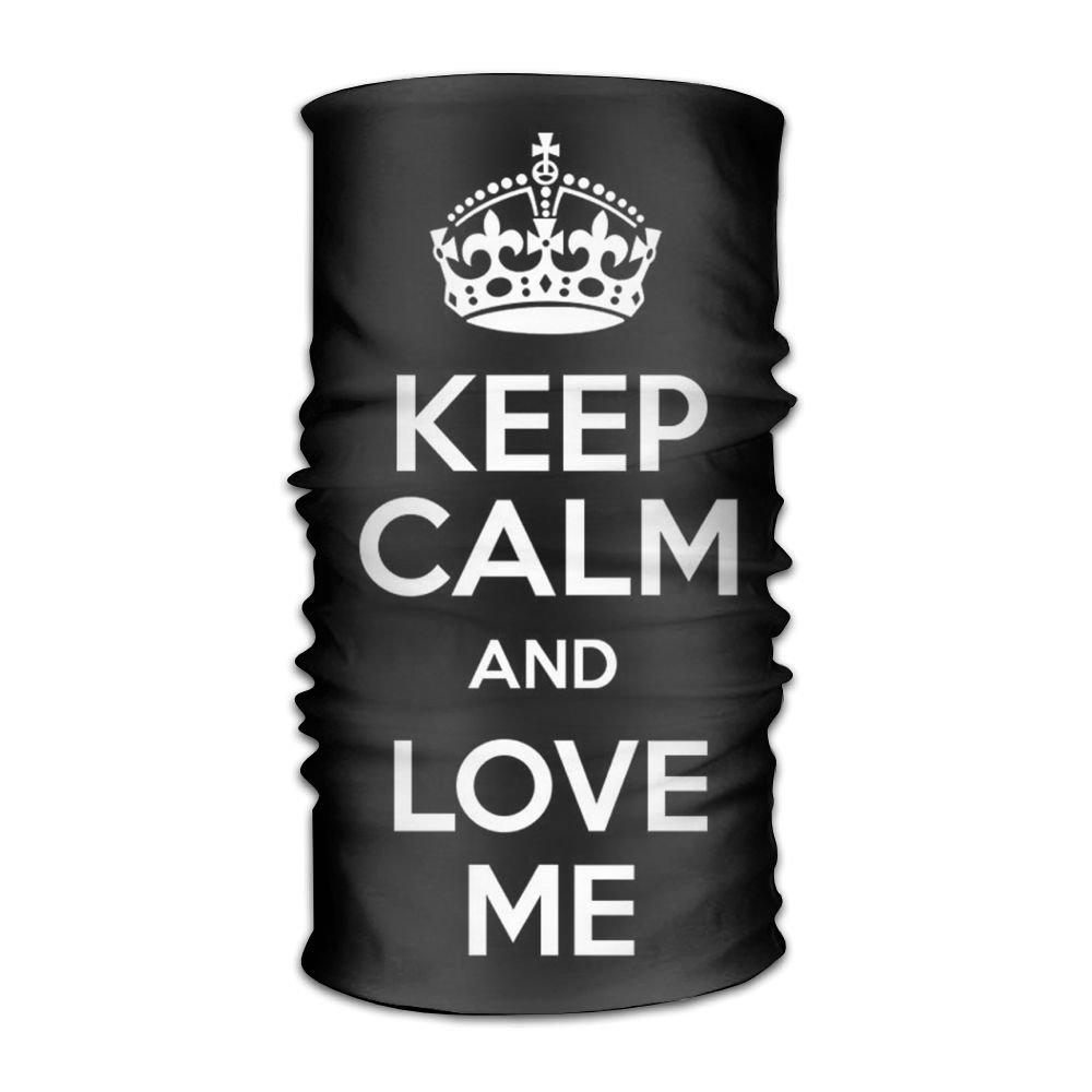 Keep Calm And Love Me Print Seamless Face Mask Bandanas,Ski Mask,Balaclava Motorcycle Face Mask For Riding, Outdoors