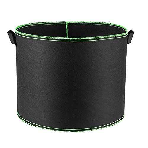 Hongville Grow Bags Aeration Fabric Pots with Handles, 30 gallons, Green