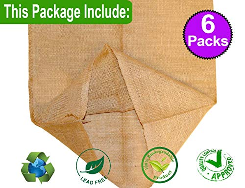 ToysOpoly Premium Burlap Potato Sack Race Bags 24'' x 40'' (Pack of 6) - of Sturdy Rugged, 100% Natural Eco-Friendly Jute | Perfect Birthday Party Game for Kids & Adults by ToysOpoly (Image #1)