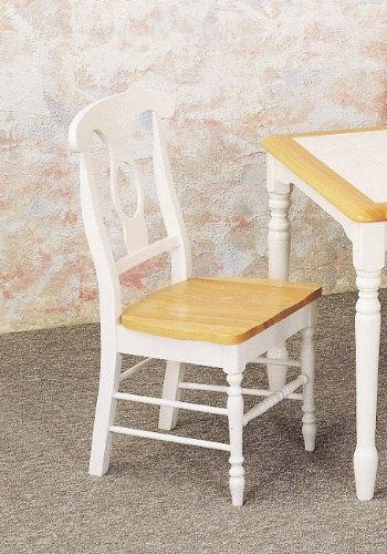 Coaster Napoleon Style Dining Chairs, Natural and White Finish, Set of 2 (Dining Set White Table Antique)