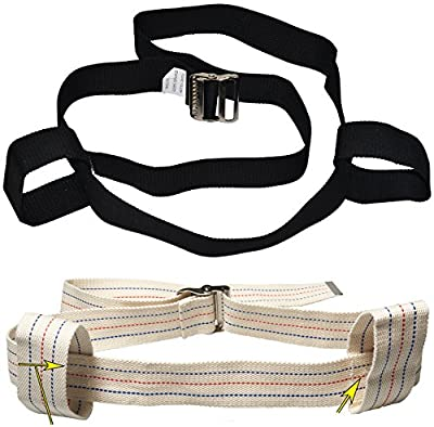 2 Looped Handles - Physical Therapy Gait Belt and Metal Buckle