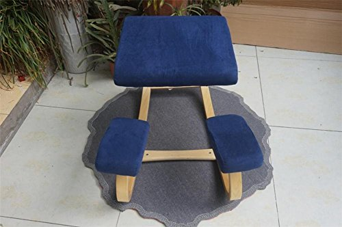 Dbtxwd Computer chair Solid wood Anthropology Health care Kneeling Posture chair for learning correction Suitable for Student office worker , 5 by Dbtxwd
