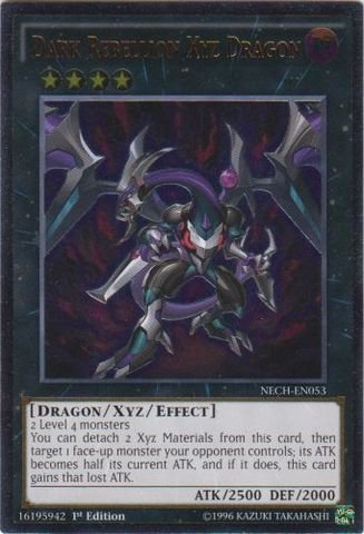 Yu-Gi-Oh! - Dark Rebellion Xyz Dragon (NECH-EN053) - The New Challengers - 1st Edition - Ultimate Rare