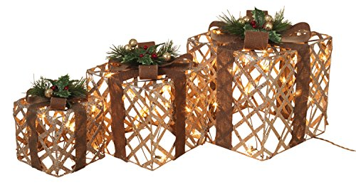 Outdoor Lighted Christmas Led Gift Presents Decoration - 5