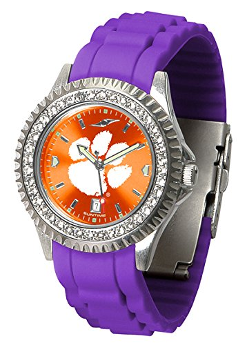 (Linkswalker Ladies Clemson Tigers Sparkle Watch)