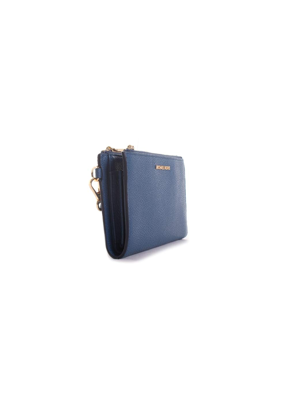 Michael Kors Double Zip Leather Wristlet in Dark Chambray by Michael Kors (Image #2)