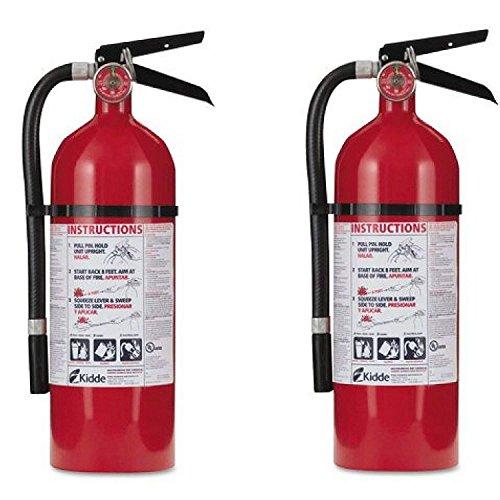 Kidde 21005779 Pro 210 Fire Extinguisher, ABC, 160CI, 4 lbs, (2Pack) i