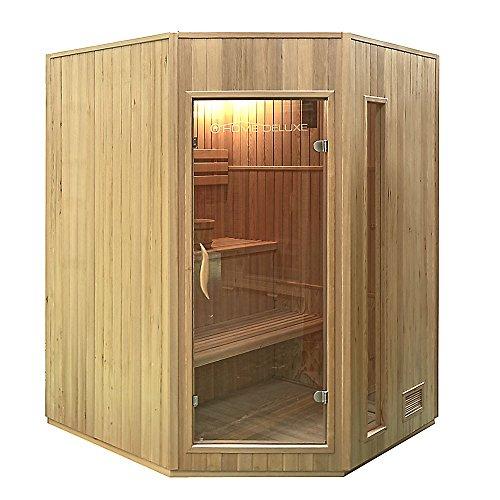 Home Deluxe Relax XL Sauna, inkl. Harvia Saunaofen und komplettem Zubehör