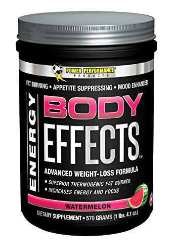 Power Performance Products Body Effects - the Ultimate Weight Loss, Fat Burning, Energy Boosting, Appetite Suppressing, Mood Enhancing and Muscle-Defining Supplement - Watermelon 570 grams (1lbs. 4.1 oz)