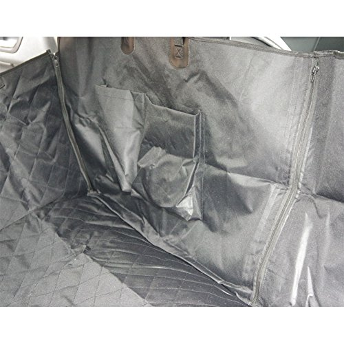 Housse de siège de voiture pour chien Pet Protection de hamac lavable à l'eau pour les voitures SUV et camion, étanche et non glissière Backing et ceinture de sécurité, noir (140x150x durable service
