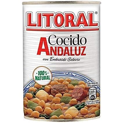 LITORAL Cocido Andaluz - Plato Preparado de Cocido Andaluz Sin Gluten - 425g