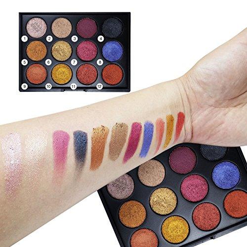 Allwon Warm Eyeshadow Palette High Pigment Shimmer Nature Nu