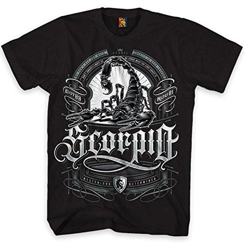 OGABEL Men's Scorpio Zodiac SS T Shirt Black