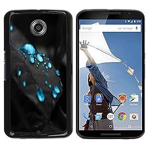 Caucho caso de Shell duro de la cubierta de accesorios de protección BY RAYDREAMMM - Motorola NEXUS 6 / X / Moto X Pro - Blue Drops