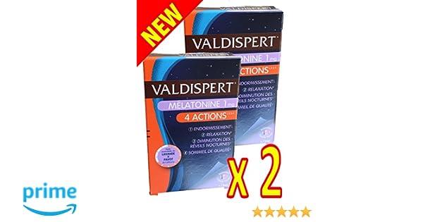 Valdispert - Valdispert melatonina 4 ACCIONES es un complemento alimenticio con melatonina, aceites esencial de planta (Lavanda y Amapola) - 2 meses ...