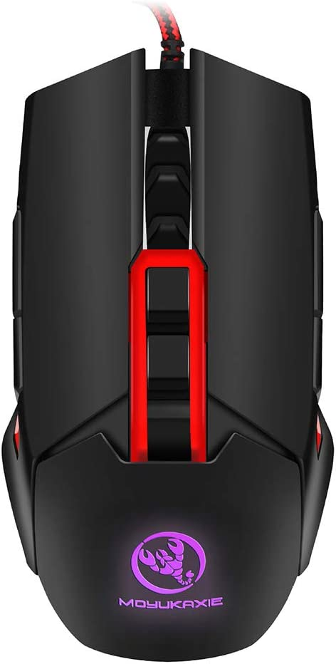 Ergonomic Mouse Computer Mouse Wired Left and Right Hand Gaming Mouse Four-Color Backlight Can Reach 3200Dpi 5 Files Adjustable