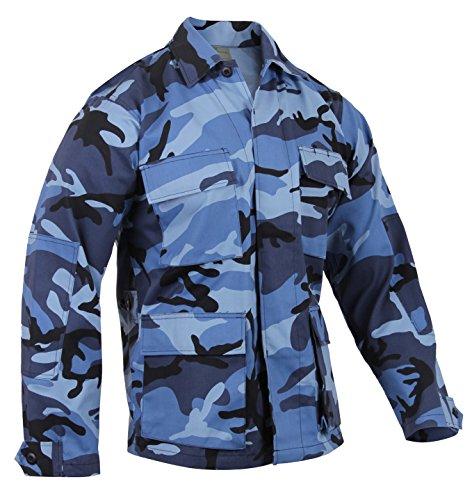 Rothco Bdu Shirt - Sky Blue Camo, Large - Sky Blue Camo Bdu Shirt