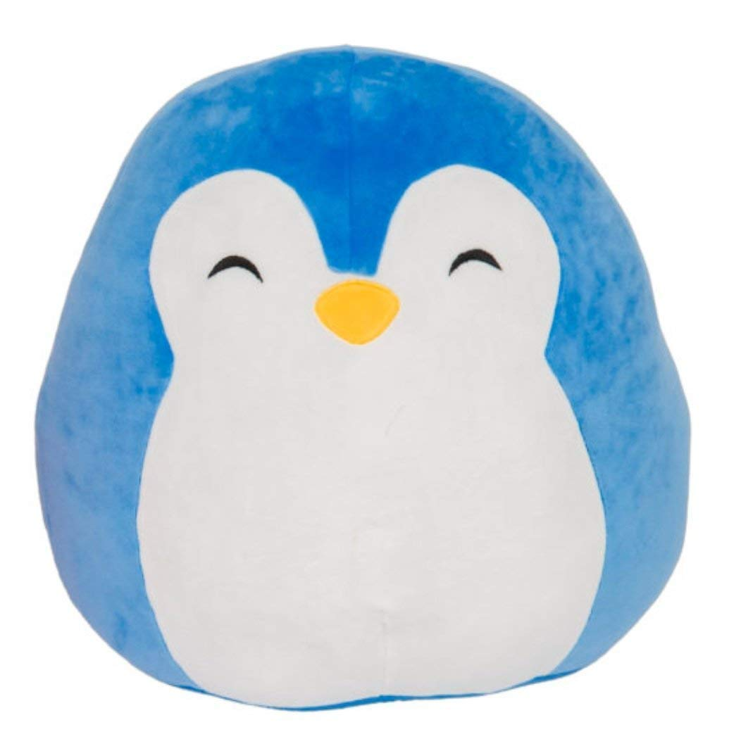 SQUISHMALLOW Puff The Penguin Pillow Stuffed Animal, Blue, 16''