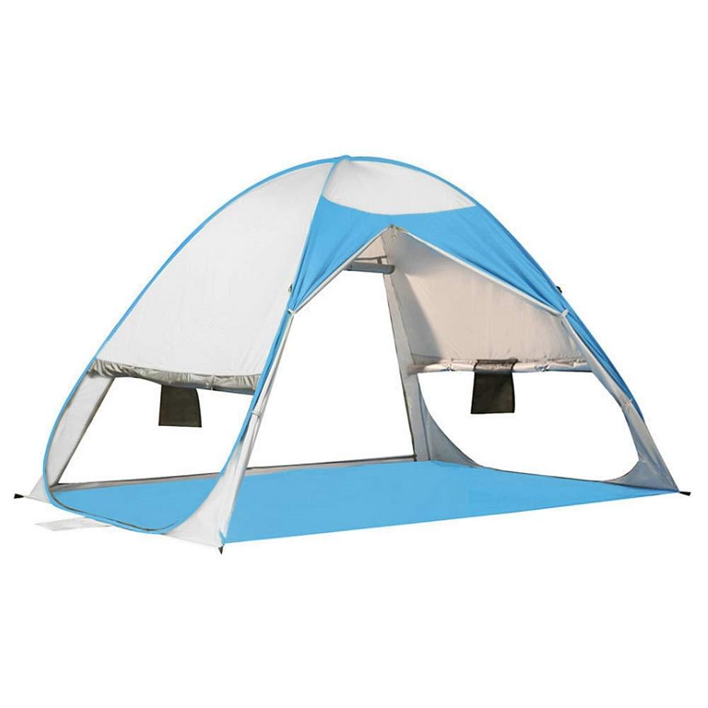 Carpas al aire libre Respirable Pop Up Sombrilla Tienda de playa Refugio de sol portátil Protección automática instantánea para la familia Protección UV para dos o tres personas Tienda de campaña para