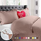 Nestl 2pc Bedding Duvet Cover & Pillow Sham Set, Twin, Taupe Sand Deal (Small Image)