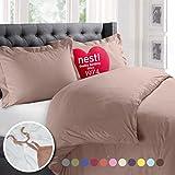 Nestl 2pc Bedding Duvet Cover & Pillow Sham Set, Twin, Taupe Sand Deal