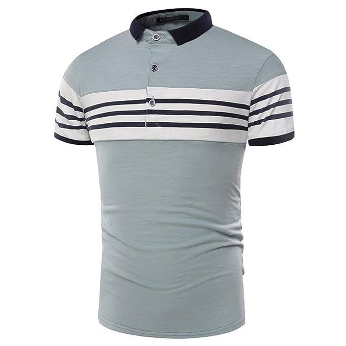 5e01ac202b2ee Saoye Fashion Camisa De Polo De Manga Corta para Hombre Camisa Ropa De Polo  De Manga Corta para Hombre Camisa De Deporte De R  Amazon.es  Ropa y  accesorios